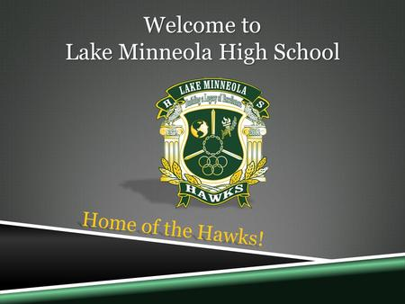 Welcome to Lake Minneola High School Home of the Hawks!