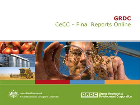 GRDC CeCC - Final Reports Online. GRDC corporate objective and strategies.