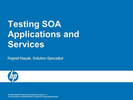 Testing SOA Applications and Services
