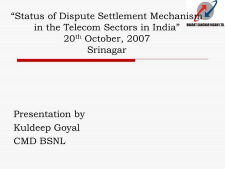 Essay on international regulatory and dispute settlement mechanism