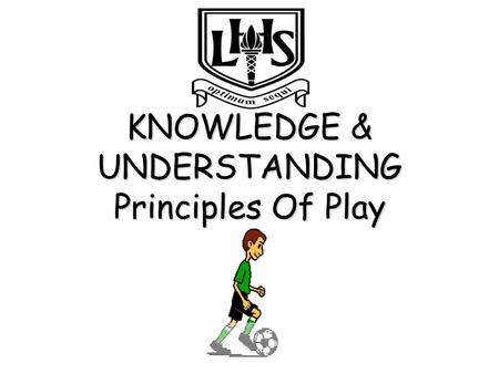 KNOWLEDGE & UNDERSTANDING Principles Of Play Principles Of Play Principles of Play: are ways teams can attack and defend effectively. Width in Attack:
