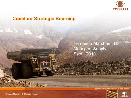 Codelco: Strategic Sourcing