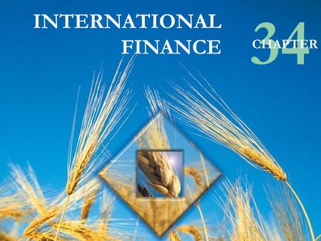 © Pearson Education Canada, 2003 INTERNATIONAL FINANCE 34 CHAPTER.