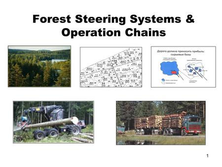 1 Forest Steering Systems & Operation Chains. 2 Education principles in FOPC& FRAP Applied and targeted focus Concentrated courses Problem and Action.