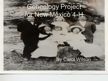 Genealogy Project for New Mexico 4-H
