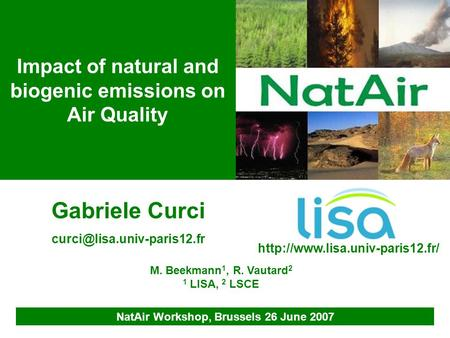 Impact of natural and biogenic emissions on Air Quality