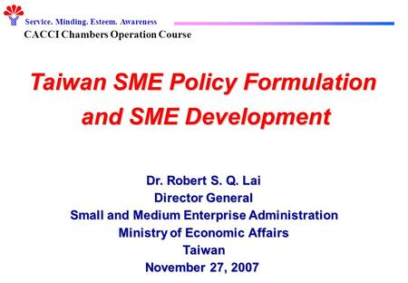 CONTENTS I. Foreword II. Experience <strong>of</strong> Taiwan's <strong>Economic</strong> <strong>Development</strong>