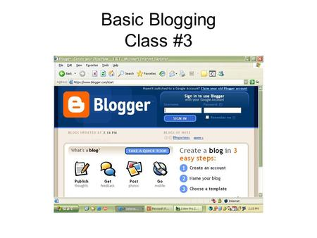Basic Blogging Class #3. Topics to Cover: Blog controversies Generating web traffic Stats Google page ranking Professional indie bloggers Affiliate ads.
