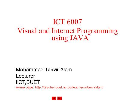 Visual and Internet Programming using JAVA
