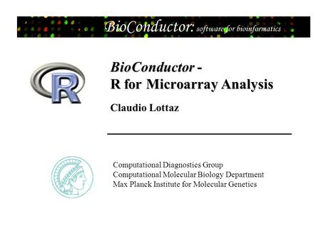 BioConductor - R for Microarray Analysis