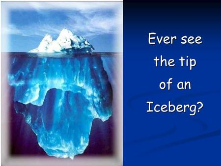 Ever see the tip of an Iceberg?. Topics School Calendars School Calendars IFARMS IFARMS Attendance and Enrollment Attendance and Enrollment IBEDS IBEDS.