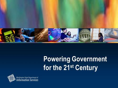 Powering Government for the 21 st Century. Introduction Reflections on the last 160 days.