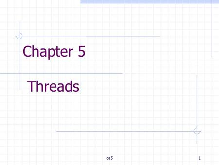 Chapter 5 Threads os5.