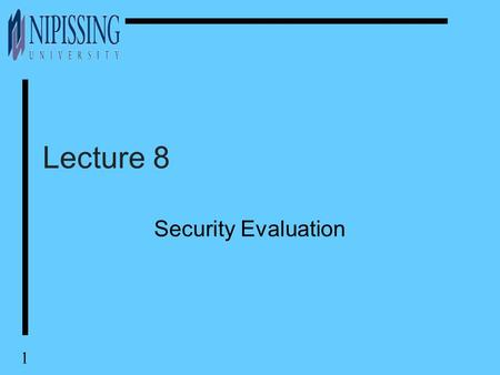Chapter 16 Standardization And Security Criteria