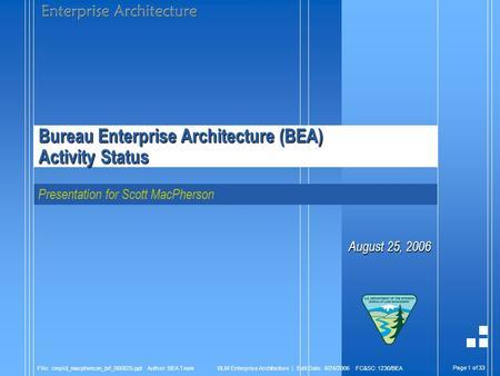 page 1 of file bea pres fieldcomm ppt author mrhinehart blm enterprise architecture edit. Black Bedroom Furniture Sets. Home Design Ideas