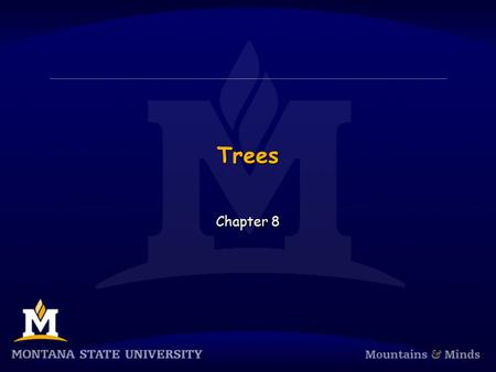 Trees Chapter 8. Chapter Objectives  To learn how to use a tree to represent a hierarchical organization of information  To learn how to use recursion.