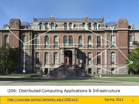 1 i206: Distributed Computing Applications & Infrastructure  2012