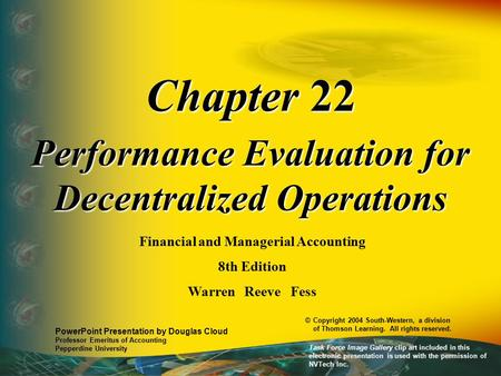 Chapter 22 Performance Evaluation for Decentralized Operations