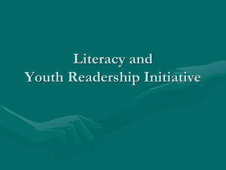 Literacy and Youth Readership Initiative. Thank You BMI Members BMI Members donate books to:BMI Members donate books to:  Schools  Libraries  Pre-school.