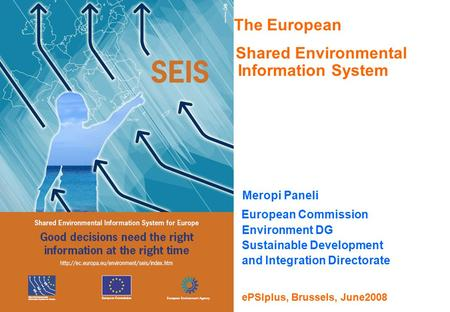 The European Shared Environmental Information System Meropi Paneli