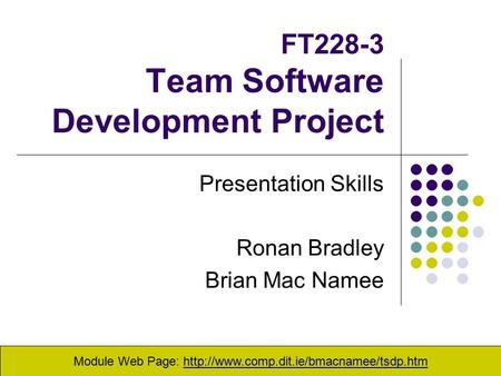 FT228-3 Team Software Development Project