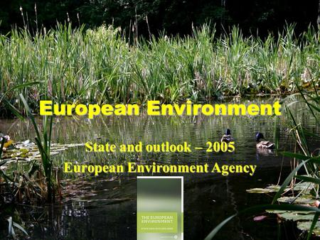 European Environment State and outlook – 2005 European Environment Agency.