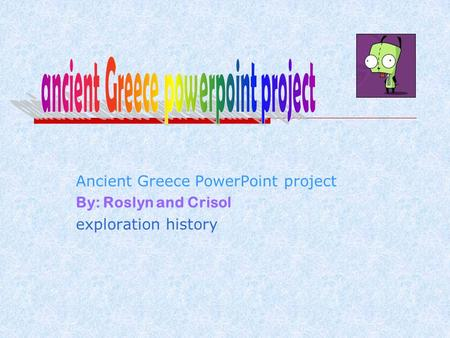 ancient Greece powerpoint project
