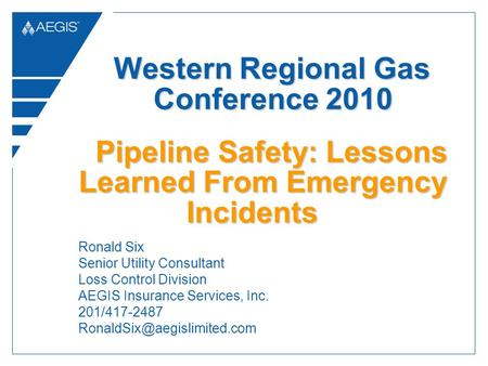 Pipeline Safety: Lessons Learned From Emergency Incidents