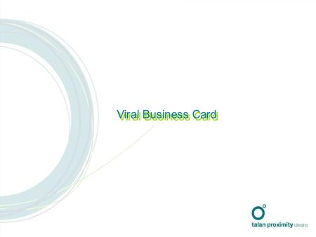 Viral Business Card. В An Agency created a new department offering viral and guerilla marketing services. The challenge was to raise awareness of the.