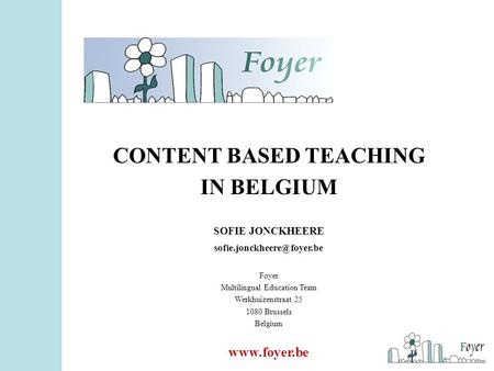 CONTENT BASED TEACHING