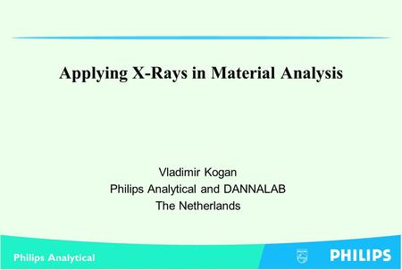 Applying X-Rays in Material Analysis