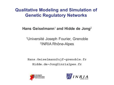 Qualitative Modeling and Simulation of Genetic Regulatory Networks