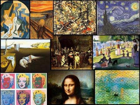 An Introduction to Art History: Artists, Artwork, and Art Movements Renaissance, Baroque, Impressionism, Pointillism, Cubism, Surrealism, Expressionism,