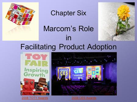 Marcom's Role in Facilitating Product Adoption Chapter Six 2008 TOTY Awards2008 CES Awards.