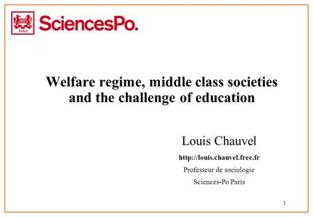 Welfare regime, middle class societies and the challenge of education