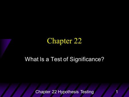 Statistical Thinking What Is a Test of Significance?