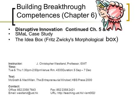 Building Breakthrough Competences (<strong>Chapter</strong> 6)