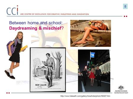 Between home and school: Daydreaming & mischief?  8.