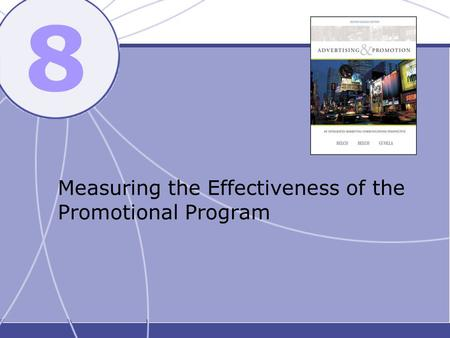 8 Measuring the Effectiveness of the Promotional Program.