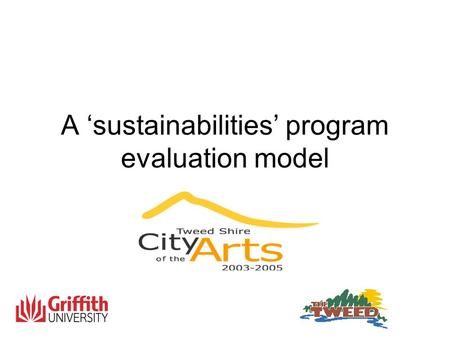 A 'sustainabilities' program evaluation model. Local Government Sector Planning Figure 1: The Four Pillars of Sustainability 1 : Address environmental.