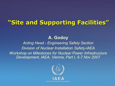 """Site and Supporting Facilities"""