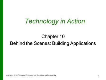 Behind the Scenes: Building Applications