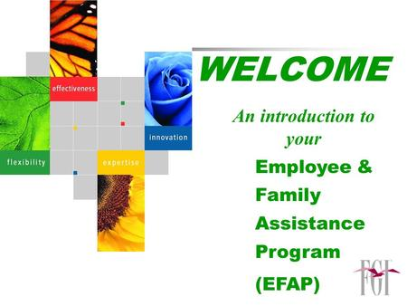WELCOME An introduction to your Employee & Family Assistance Program (EFAP)