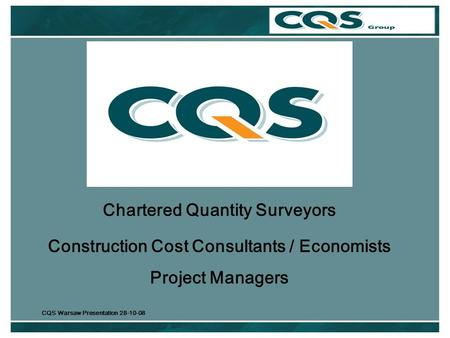 Chartered Quantity Surveyors