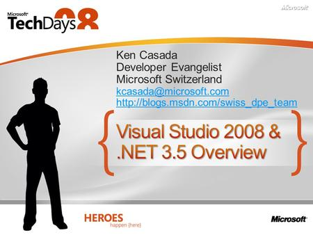 Visual Studio 2008 & .NET 3.5 Overview
