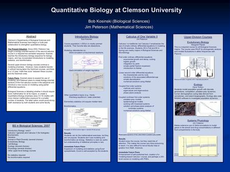 A2 biology coursework topics