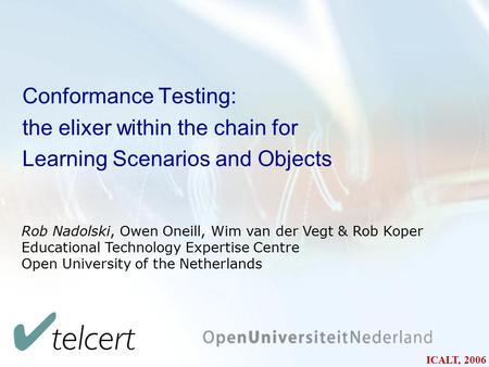 Udf conformance testing application software