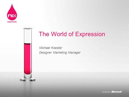 Michael Koester Designer Marketing Manager The World of Expression.