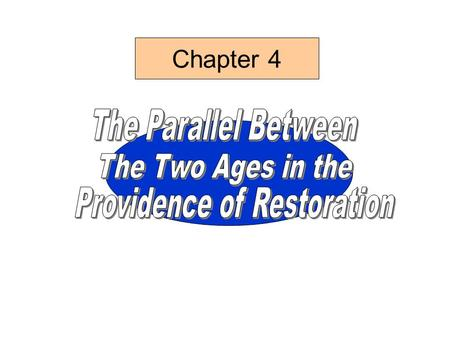 Chapter 4 Old Testament History Of Christianity ChristiansIsrael Age of Restoration Age of the Prolongation of Restoration Central People Source Material.