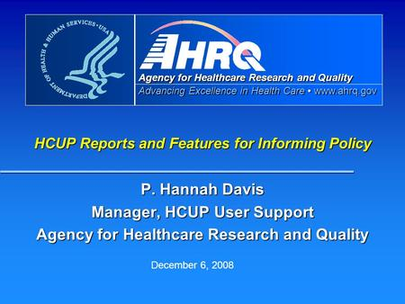 healthcare policy and quality